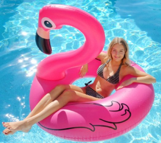 Gonflable piscine flamant rose kerlis for Gonflable pour piscine