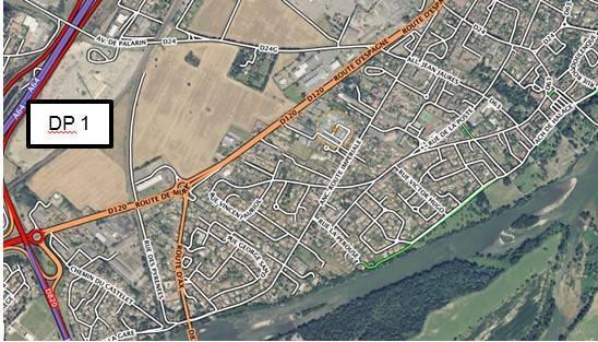 Plan DP1 situation du terrain