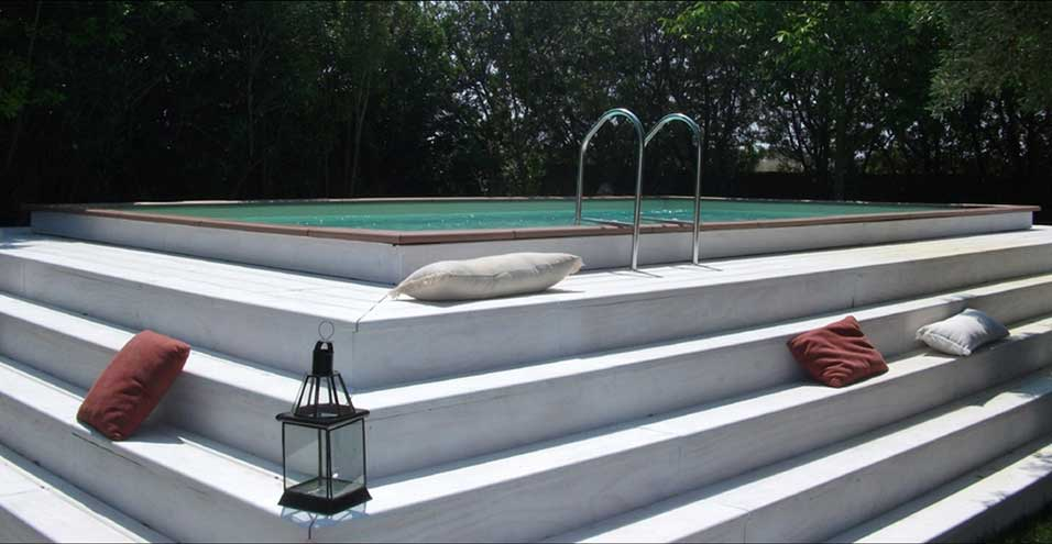 Design amenagement piscine hors sol bois 13 rouen rouen amenagement Piscine hors sol design