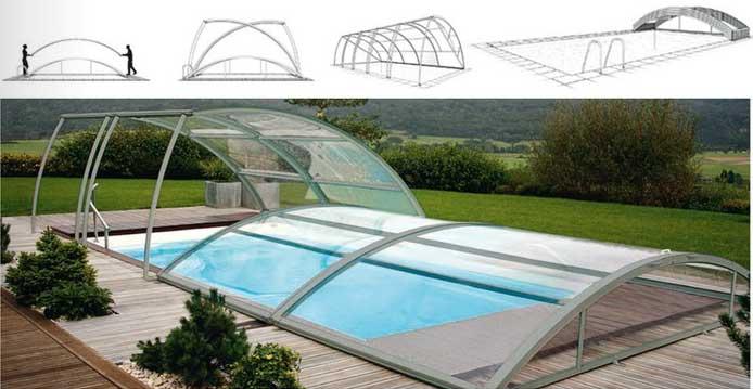 Abri bas amovible (abri de piscine bas)