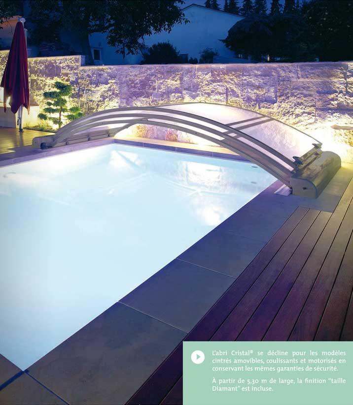 Abri bas transparent achat vente devis abri de piscine for Abri de piscine bas