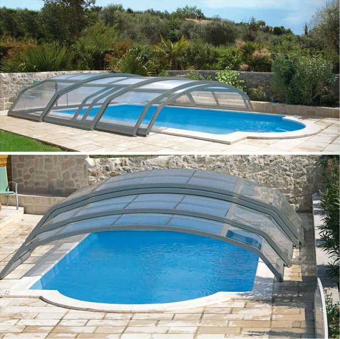 Abri de piscine télescopique design