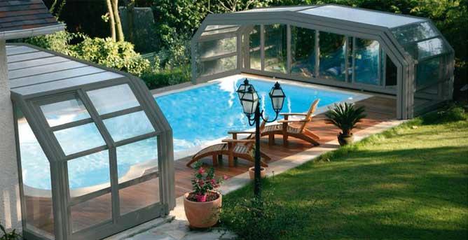 Abri haut t lescopique achat vente devis abri de piscine for Tarif bache pour bassin
