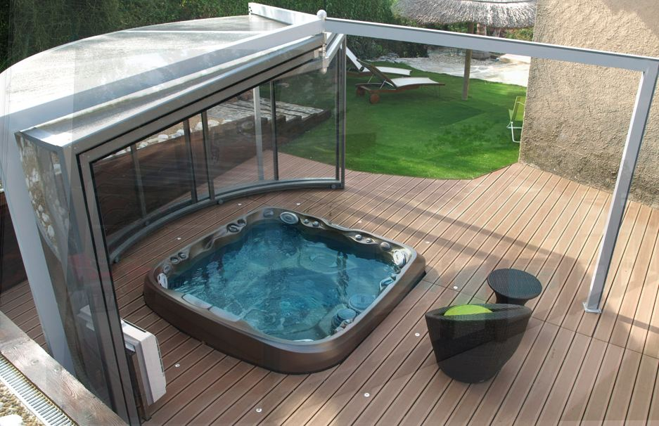 abri de piscine abrisud achat conseils et devis chez irrijardin. Black Bedroom Furniture Sets. Home Design Ideas