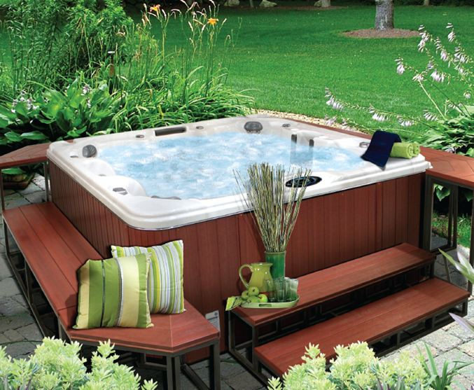 am nagement ext rieur d un spa jacuzzi pictures to pin on. Black Bedroom Furniture Sets. Home Design Ideas