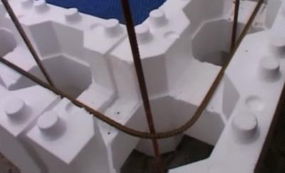 Angle pisicne en bloc polystyrène