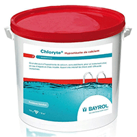 Chloryte de Bayrol pour un désinfection choc de votre piscine au chlore.