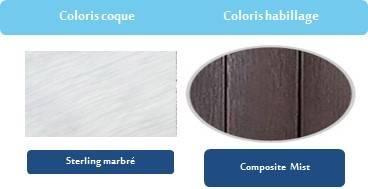 Coloris habillage et Coque du spa French touch FT 7