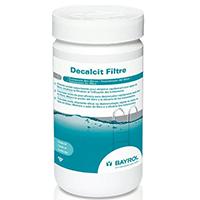 Decalcit Filtre de Bayrol détartre le filtre de votre piscine.