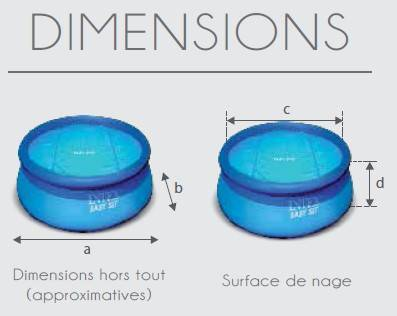 Dimension piscine autoportée easy set 396