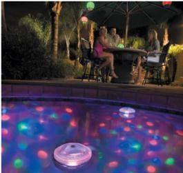 Eclairage piscine disco