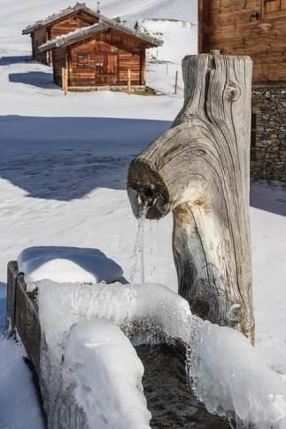 Hivernage de la fontaine de jardin