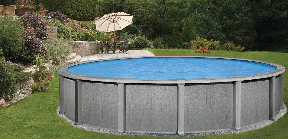 Belle piscine ronde hors sol for Piscine acier enterree