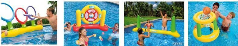 Jeu sportif en piscine