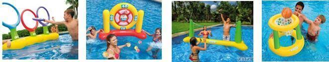 Jeux collectifs de piscine