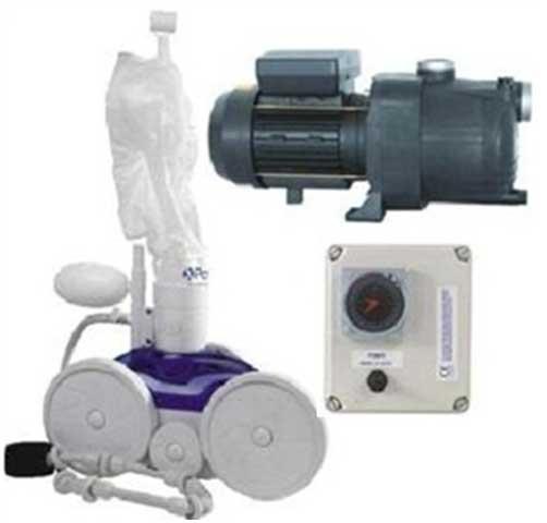 Kit complet pour faire fonctionner un robot à pression : le robot, le surpresseur et l'horloge