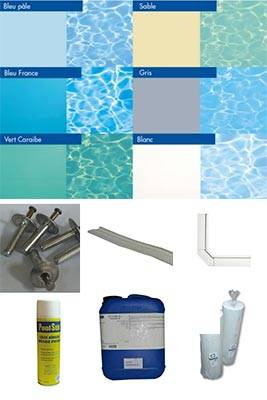 Kit piscine bloc 1er prix s 6x3m piscine enterr for Prix pose liner piscine