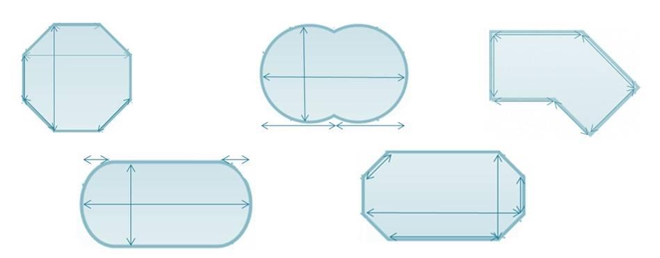 Mesure bâche formes piscine
