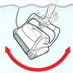 Mise en eau du robot électrique de piscine