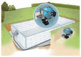 Mur filtrant piscine