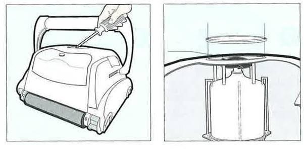Nettoyer l'hélice robot électrique TOP ACCESS