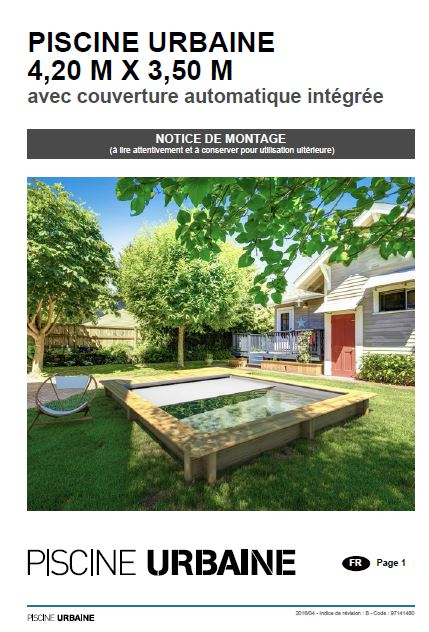 Notice de montage piscine urbaine bois rectangulaire