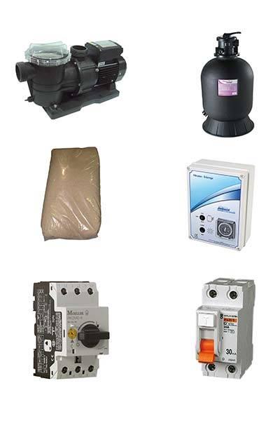 kit filtration pour structure résine