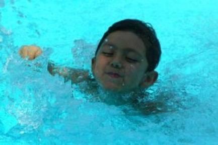 piscine et bache à barres