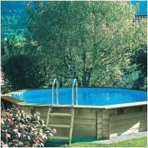 piscine en bois. Black Bedroom Furniture Sets. Home Design Ideas