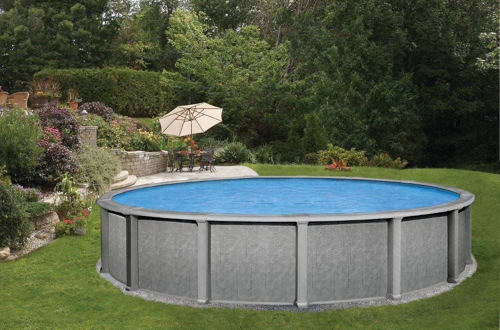 Piscine hors sol 4 57m ronde sentinelle summit for Piscine en sol