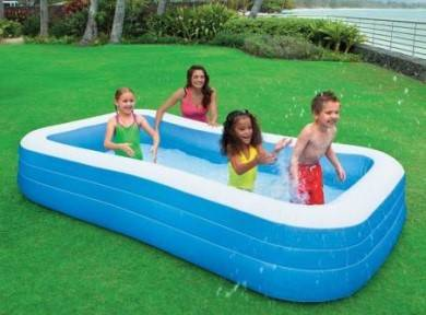 Piscine rectangle gonflable
