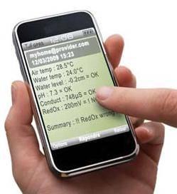 Gestion via un smartphone