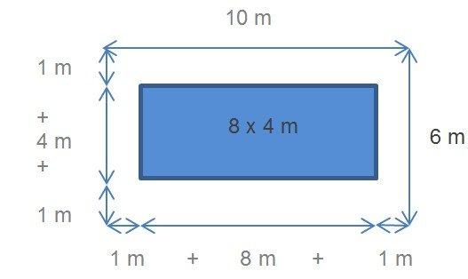 Barrière pour piscine 8x4m sans escalier
