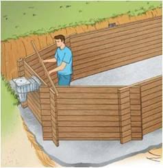 comment enterrer une piscine en bois gallery of image. Black Bedroom Furniture Sets. Home Design Ideas