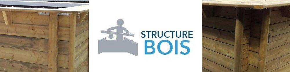 Structure bois piscine hors sol urbaine procopi
