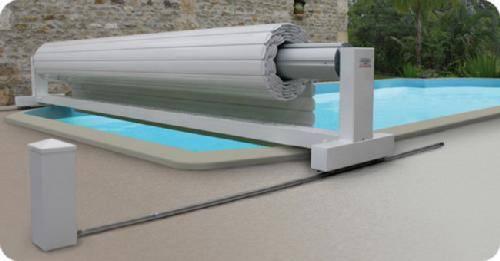 Volet automatique hors sol open classic abriblue devis for Volet piscine automatique