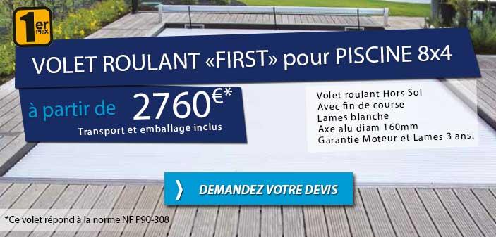 Volet roulant piscine couverture automatique achat prix for Volet roulant de piscine