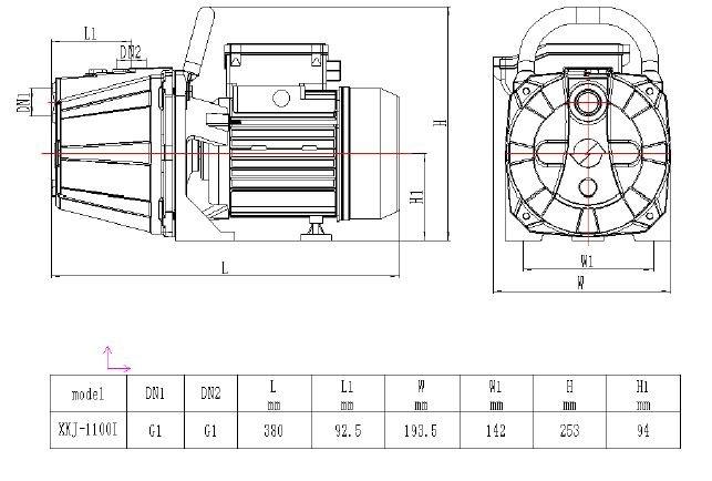 Vue éclatée Pompe XKJ 1100l